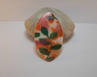 pastel shades to create polymer clay pendant