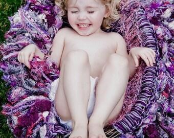 Purple Photography Prop Baby Girl Baby Blanket Purple Pink Silver Gray Fringe Prop Hammock Purple Baby Shower Prop