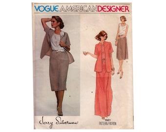 "Vogue American Designer Silverman Women's Sewing Pattern Blouse Maxi Skirt Kimono Sleeve Jacket UNCUT Size 12 Bust 34""(87 cm) V 1681 S"