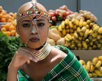 Traditional Ndebele Gold chocker. IDZILA.