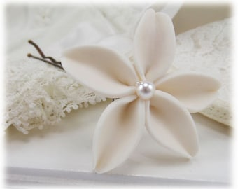 Jasmine Hair Clip Pin - Jasmine Wedding Hair Flower