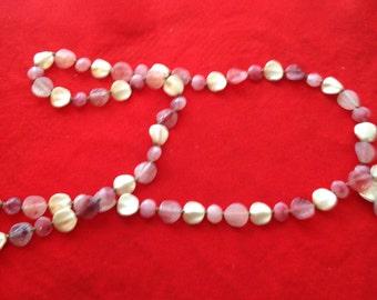 multi-colored stone beaded necklace ,Pretty!