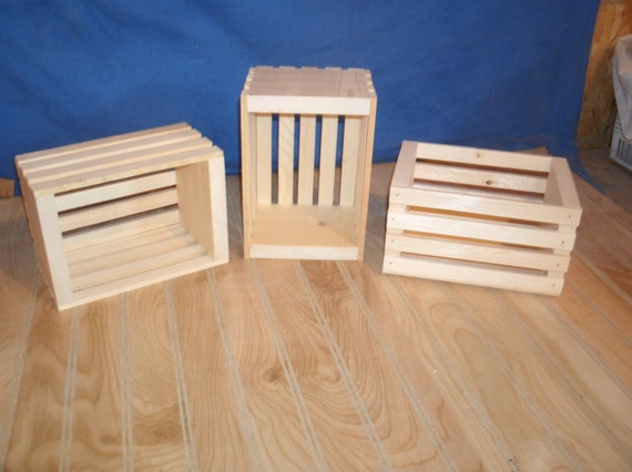 10 small wood crates unfinished wood crates wooden crate wooden crates wood box - Small Wooden Crates