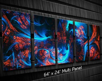 Large Modern Abstract Metal Wall Art Exertion