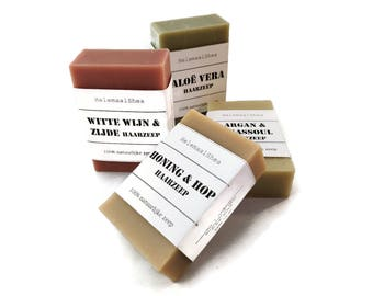 4 Shampoo bars of your choice / natural solid shampoo bar / hair soap / gift set / bulk / discount / soap for your hair