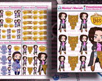 Chibi Gilmore's - Rory and Lorelei Stickers