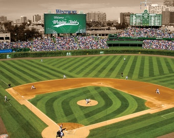 Chicago Cubs Wrigley Field Gallery Wrap Canvas Art