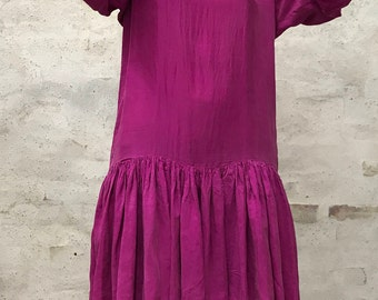 Vintage 80's pink silk dress