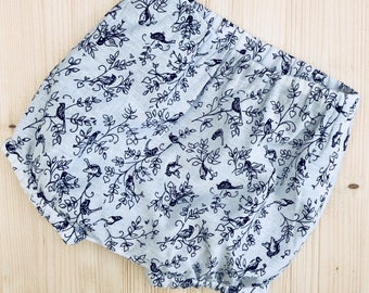 Baby bloomers, toddler bloomers, nappy cover, bubble leg, diaper cover, monochrome, baby shorts, toddler shorts