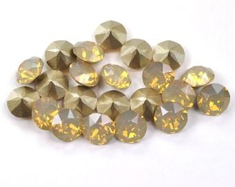 Swarovski 39ss 1088 Sand Opal Xirius Chatons 8mm Crystal 6 Pieces