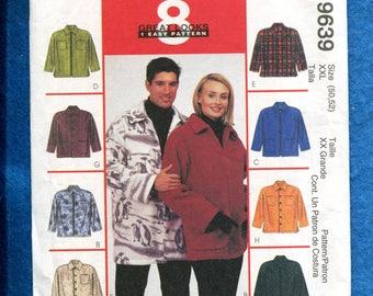 McCalls 9639 Ranch Hand Jacket or Shirt for Men & Women Size XXL UNCUT