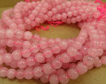 Rose Quartz Beads, 6mm Pink Rose Quartz Beads, 16 inch Strand, 6mm Pink Beads, Beading Supplies, Item 690pm
