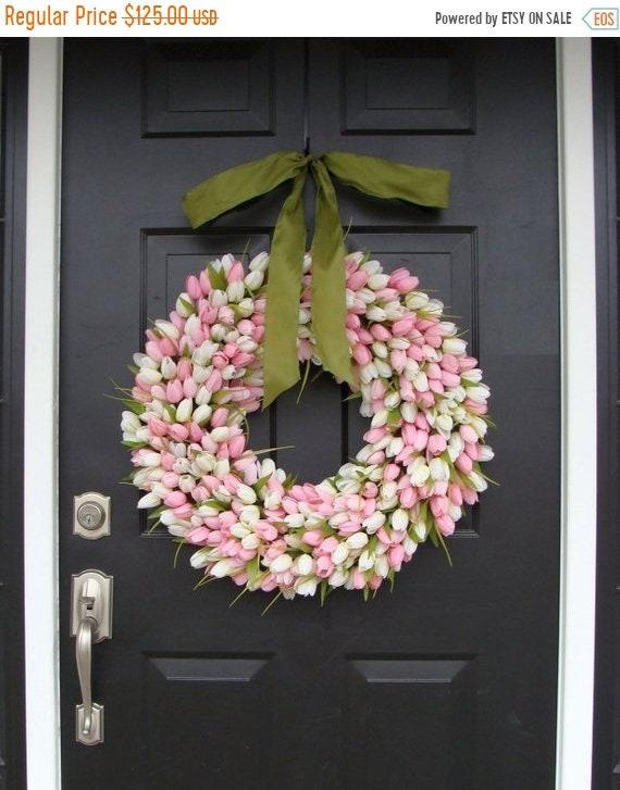 SUMMER WREATH SALE 22 inch Spring Wreath- Mother's Day Wreath- Spring Decor- Gift for Mother's Day