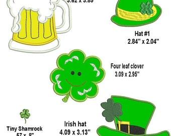 Saint Patrick's Day embroidery Design Set