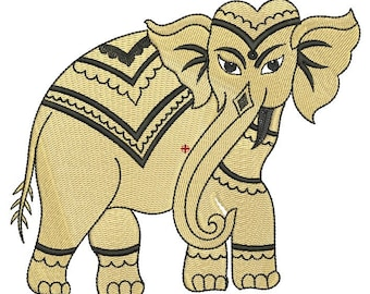 Elephant Machine Embroidery Design, machine embroidery pattern, ROYAL ELEPHANT,paadar club