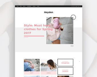 Responsive Blogger Template | Blogger.com website style homepage | Hayden
