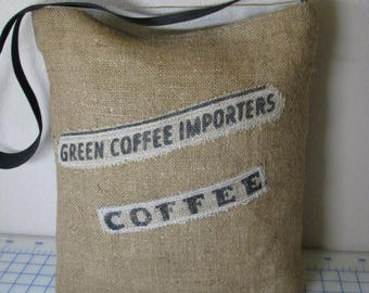 Recycled Coffee Sack Burlap Tote - Your Choice