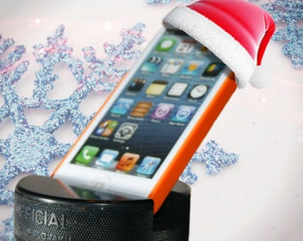 Hockey Puck Cell Phone Holder - Indestructible iPhone 7 + / Android / Samsung Galaxy Stand - Best Cellphone Stand - Great Stocking Stuffers