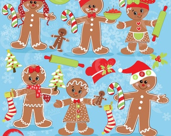 Christmas Clipart, Gingerbread clipart, Ginger bread cookie clipart, Commercial Use, Instant Download, AMB-377