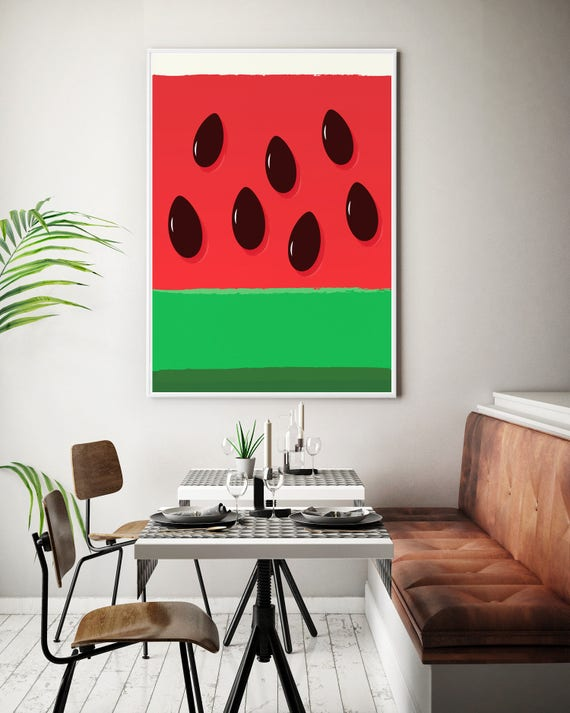 Fruit Art Watermelon Kitchen Print Dining Room Poster