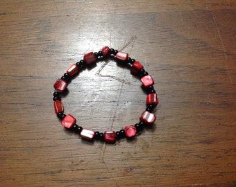 red + black bead bracelet