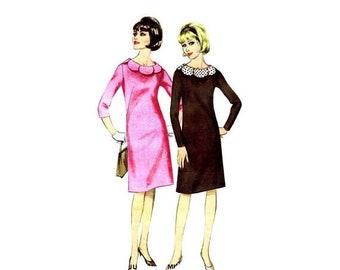 SALE 1960s Misses Shift Dress Butterick 3326 Vintage Sewing Pattern Size 14 Bust 34 UNCUT