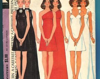 McCalls 3839 Evening Dress Party Prom Dress Vintage Sewing Pattern - UNCUT - Misses Junior Size 12 Bust 34