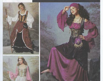 Simplicity 9966 (HH) - MISSES Peasant and Princess Costumes / Sizes 6, 8, 10, 12
