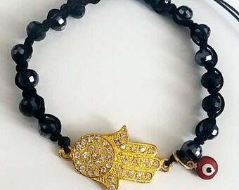 Hamsa & Evil eye bracelet