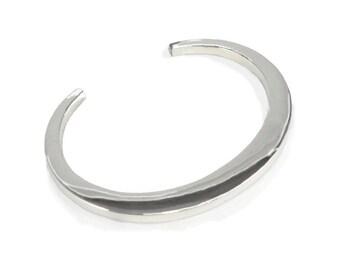 Mens Torque Bangle Bracelet Sterling Silver