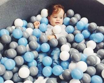 ball pit WITHOUT BALLS / big XL dark grey ball pit / kids ball pit / baby ball pit / bällebad / ballpit / baby ball pit / foam ball pit