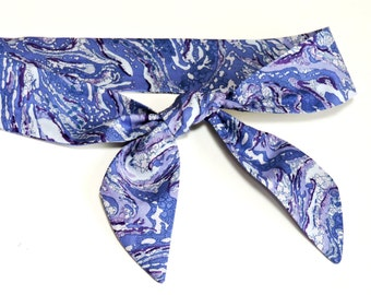 Marbled Purple Headband, Gel Cooling Neck Cooler Bandana Head Scarf, Stay Cool Tie Wrap, Heat Relief Hair Band, Eco Friendly iycbrand