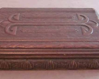 Syroco Wood Hinged Box Vintage 1950's