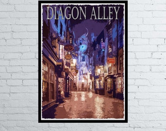 Harry Potter Diagon Alley Movie / Poster / Print