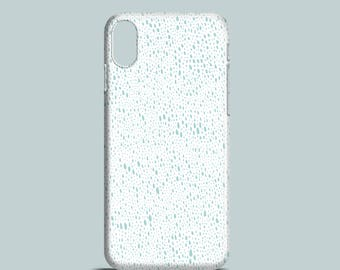 Teal Rain mobile phone case, sea green iPhone X case, iPhone 8, iPhone 7, iPhone 7 Plus, iPhone SE, iPhone 6S, iPhone 6, iPhone 5S iPhone 5
