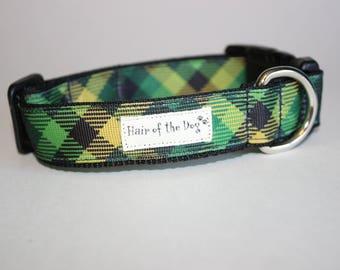 St. Patricks Plaid DoG Collar