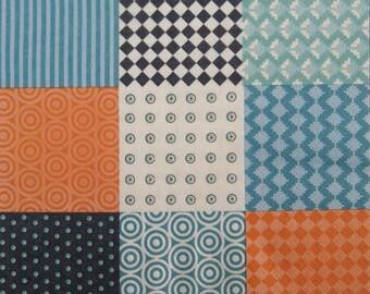 Decoupage paper napkins, multi color motives, square circle, Set of 3 paper napkins, size 33x33 cm (no.118)