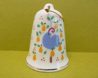 Bell By: Lillian Vernun, Circa 1986, Partridge in a Pear Tree