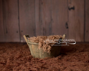 Instant Download! Newborn posing bucket-rustic newborn backdrop