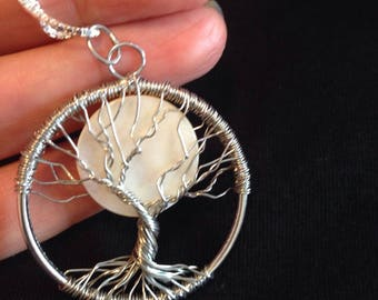 TREE OF LIFE.  Moon - natural shell. Unique gifts for Lovers.