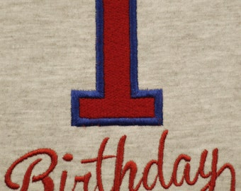 First Birthday Embroidery Design Instant Download