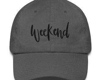Weekend - Hand Lettered Design - Cotton Cap