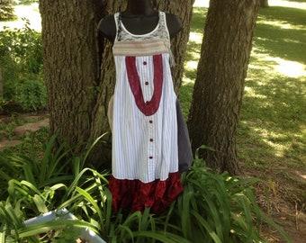 Women's XXL gypsy boho tunic