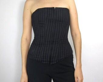 Pinstripe Corset Size 34 - 36 Small Medium