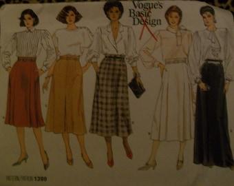 Vogue 1399 basic skirt pattern