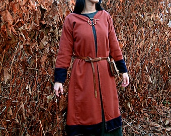 Early Medieval Scandinavian coat for woman, Viking coat  form Birka, Historical Pattern , for Viking Reenactors, Viking Costume