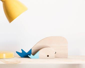 """Wood figures """"whales"""""""
