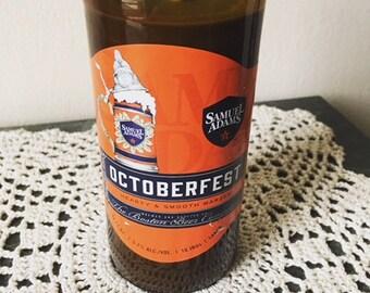 Black Ginger & Bamboo Cut Beer Bottle Soy Candle // Samuel Adams Octoberfest