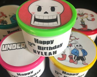8 Undertale Game Flowey Sans Papyrus Birthday Party Play Dough Playdough Toy Favors Gifts Supplies