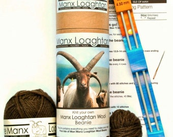 Knit your own Manx Loaghtan Wool Beanie kits